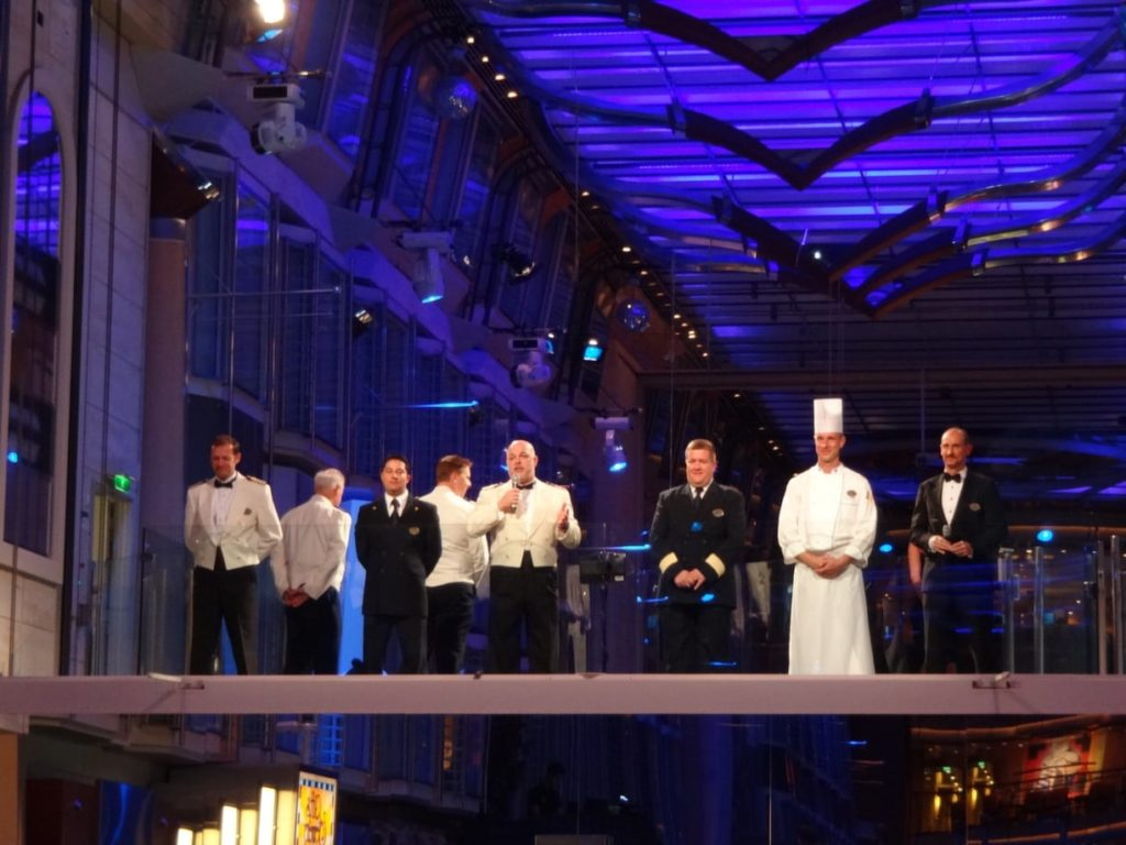 Captain's Reception on Independence of the Seas