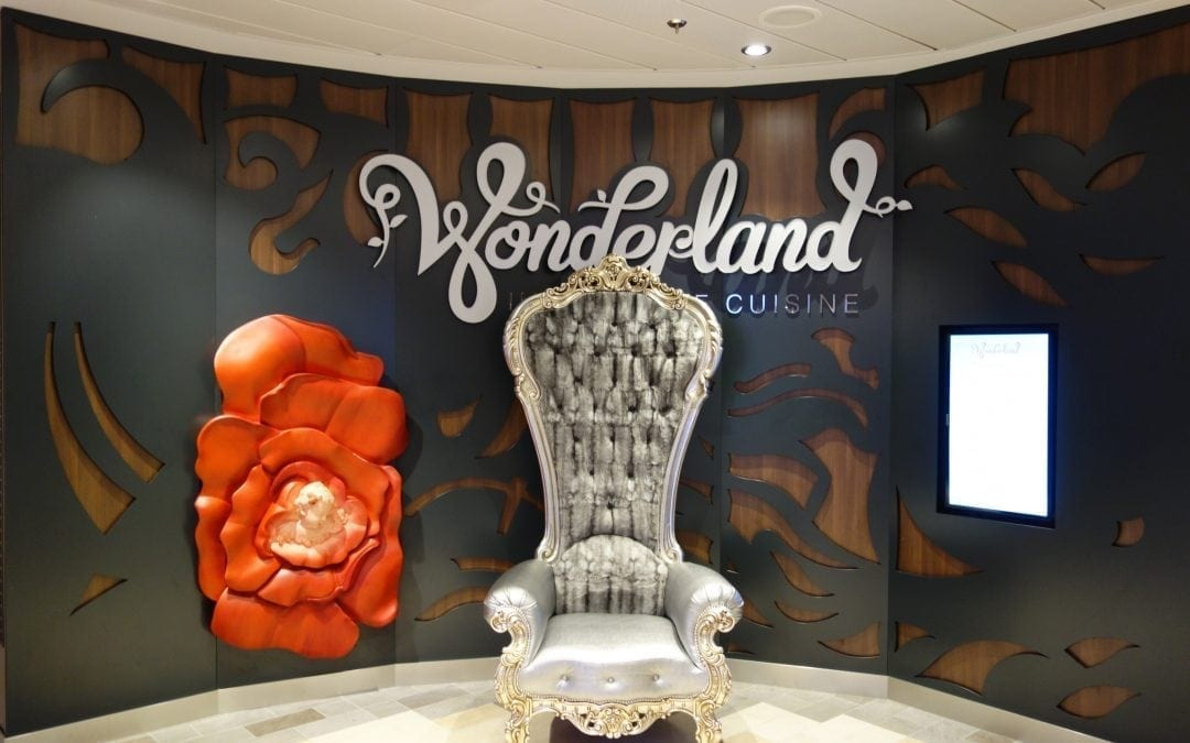 Quantum of the Seas: Dynamic Dining Review Wonderland Restaurant