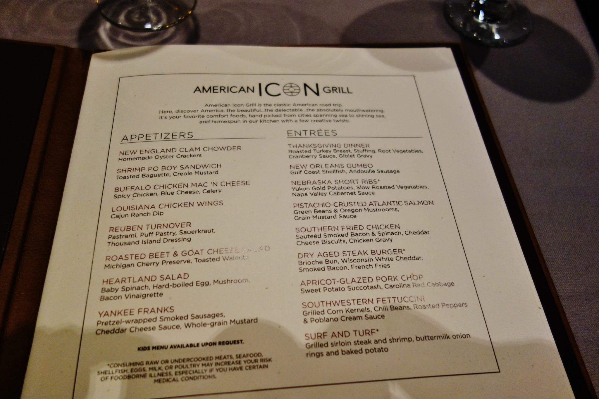 quantum of the seas dynamic dining review american icon grill