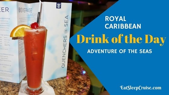 Adventure Of The Seas Drink Menu