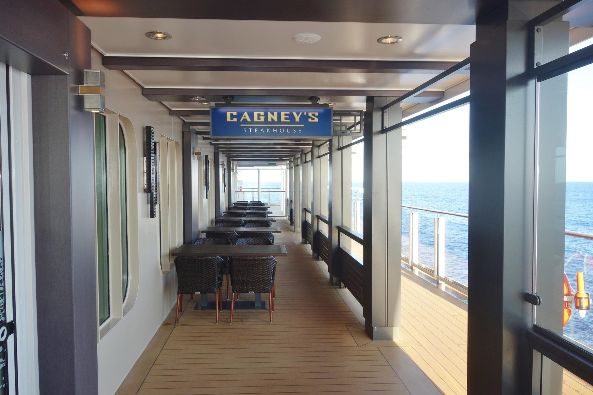 Cagney's Steakhouse on Norwegian Escape