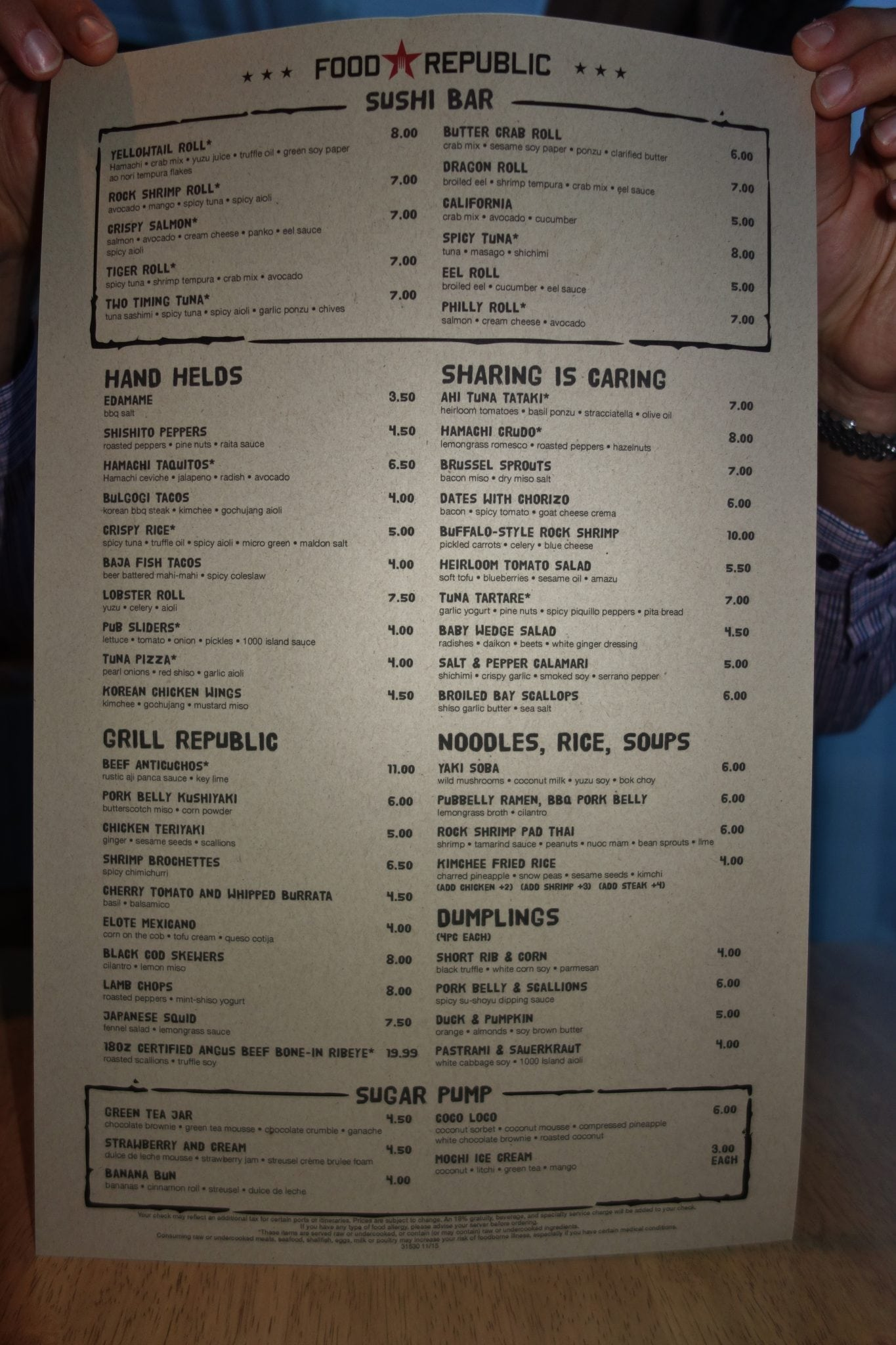 Food Republic Menu