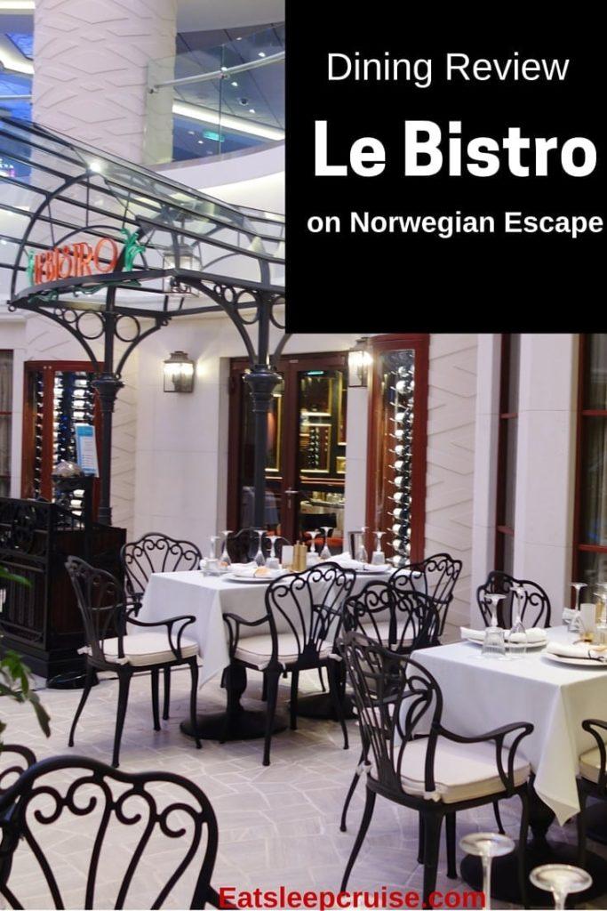Le Bistro on Norwegian Escape