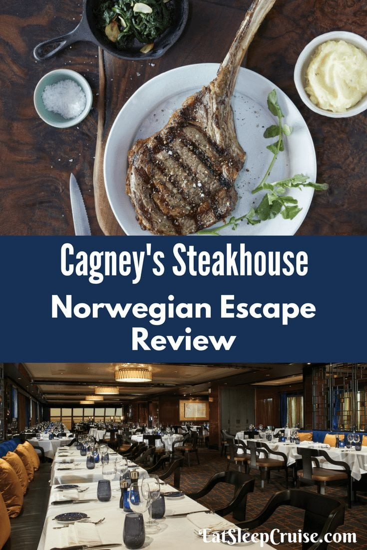 Cagney's Steakhouse on Norwegian Escape Review