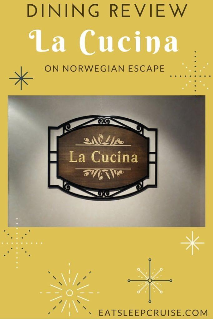 La Cucina on Norwegian Escape