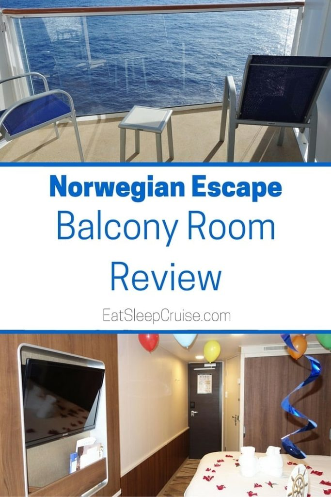 Norwegian escape balcony room photo review for Alaska cruise balcony room