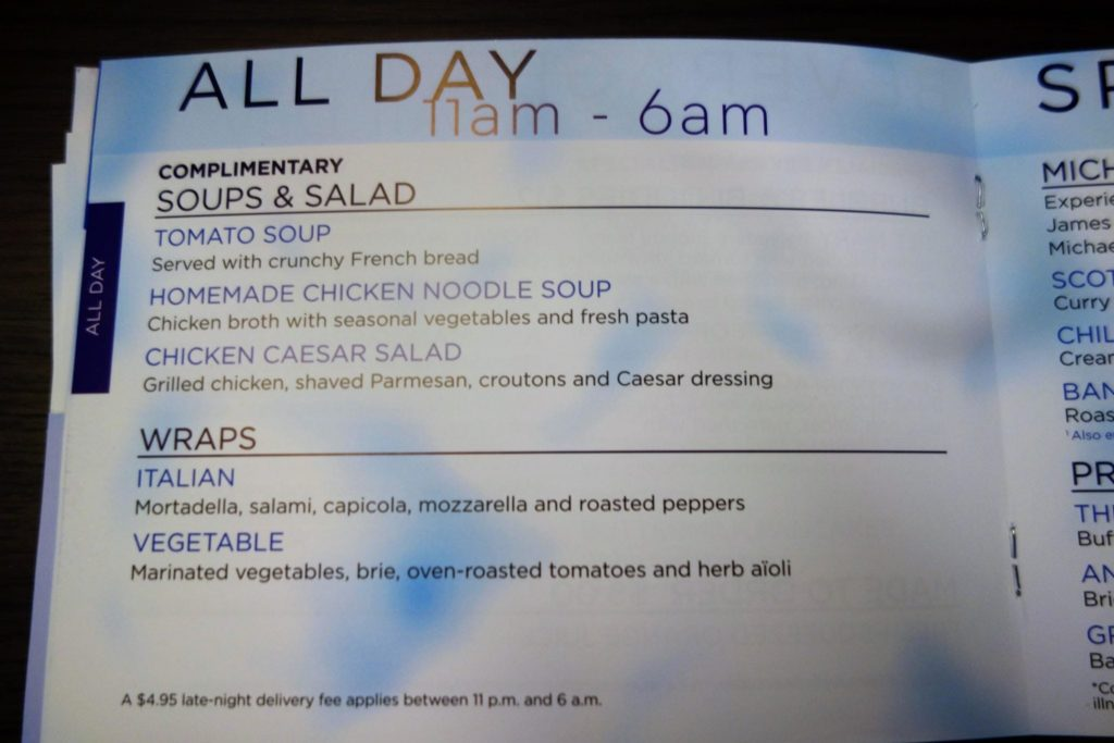 Brand New Anthem Of The Seas Menus 2016