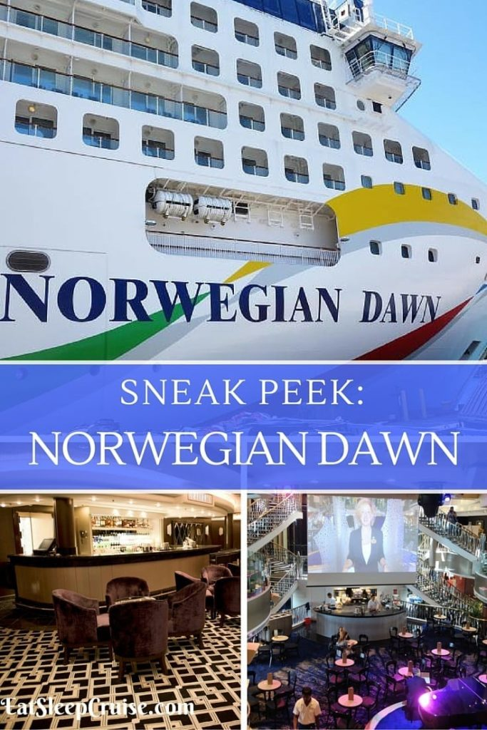 Behind The Scences Norwegian Dawn Pictures Following Refurb - Cruise ship dawn