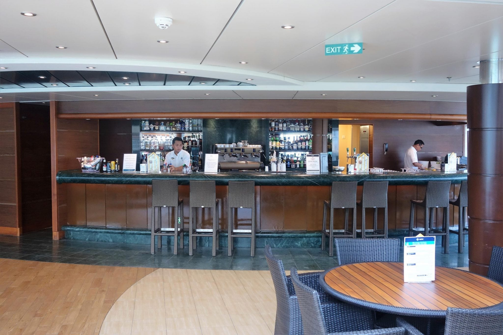 Bars on MSC Divina