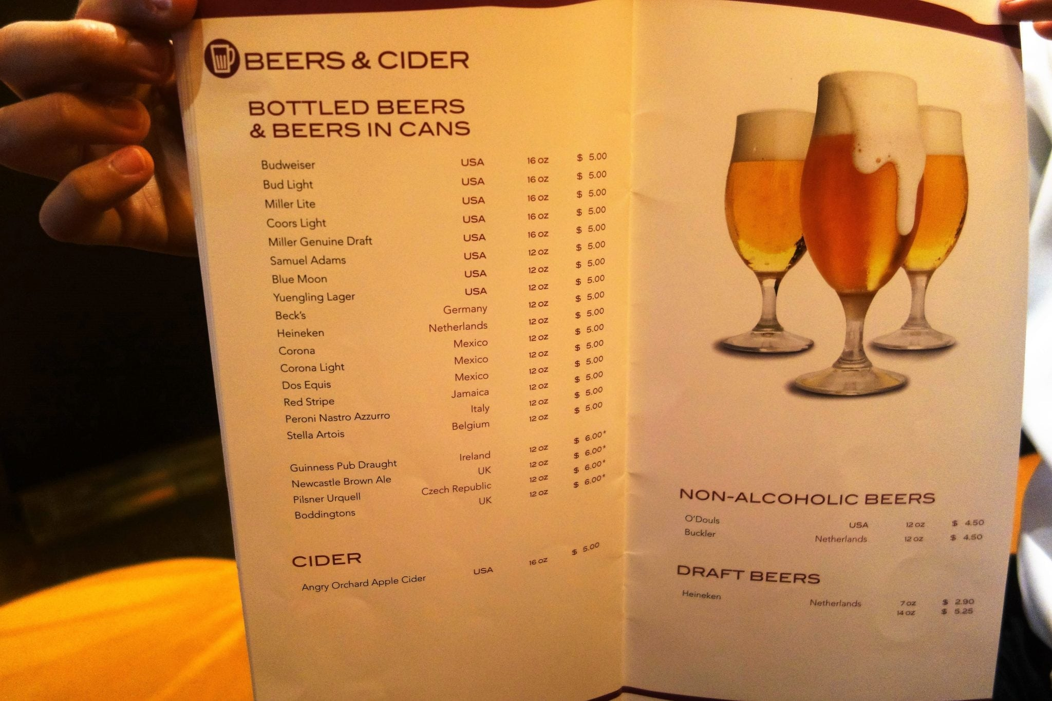 Celebrity cruise drink prices 2019