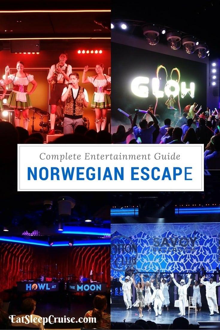 Norwegian Escape Entertainment