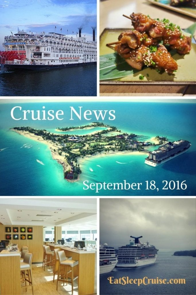 Cruise News September 18, 2016