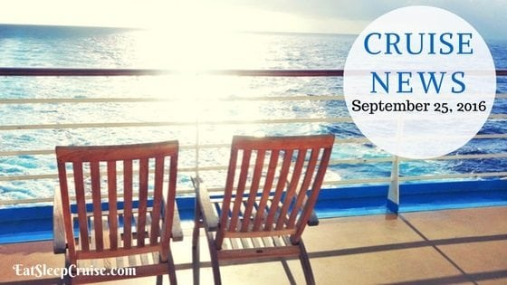 Cruise News September 25, 2016
