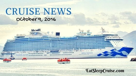 Get The Latest Updates Cruise News October 9 2016