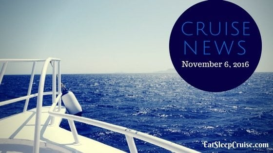 Latest Travel Updates Cruise News November 6 2016