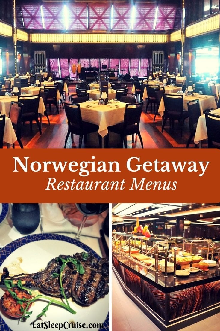 Norwegian Getaway Restaurant Menus
