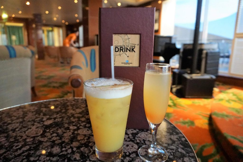 Norwegian Sky Bars - Plantation Club Drinks
