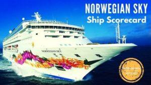 Norwegian Sky Ship Scorecard