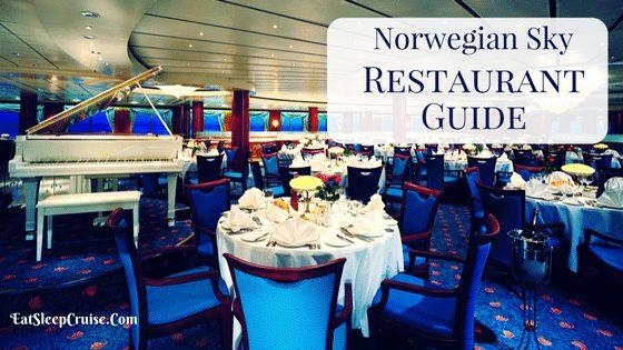 Guide to Norwegian Sky Restaurants