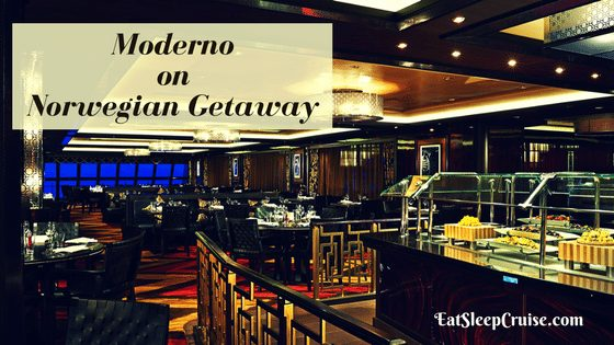 Carving into Moderno on Norwegian Getaway