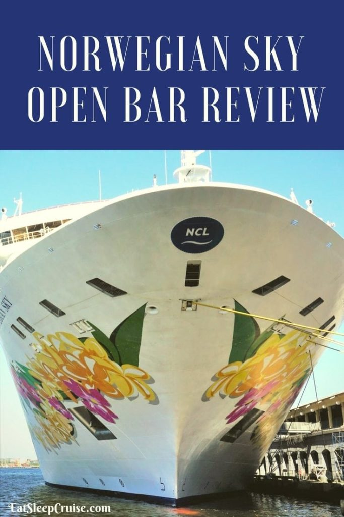 Norwegian Sky Open Bar Review