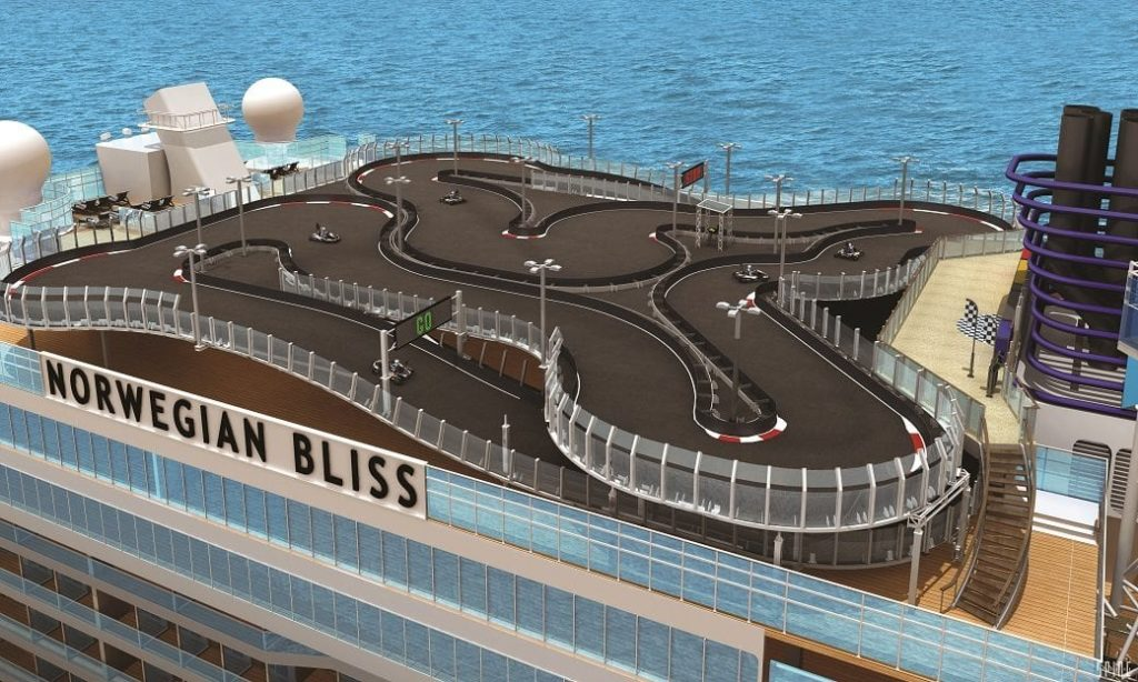 Race Trck on Norwegian Bliss