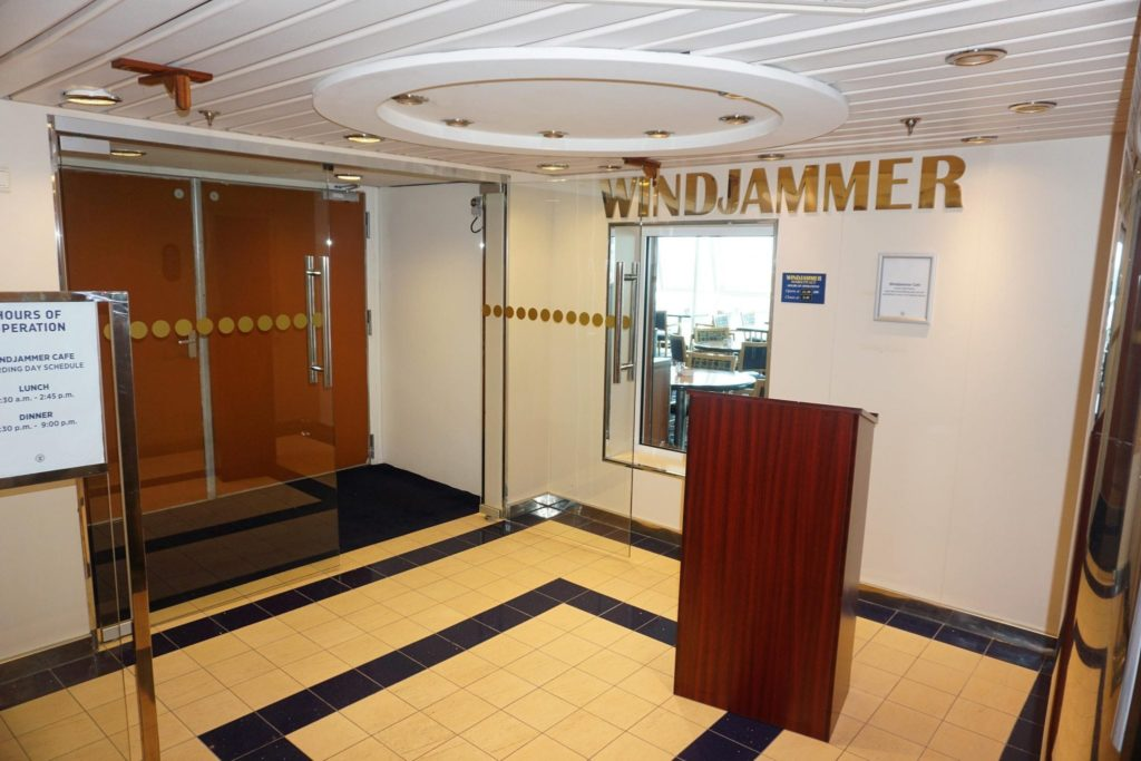 Entrance to Windjammer on Majesty