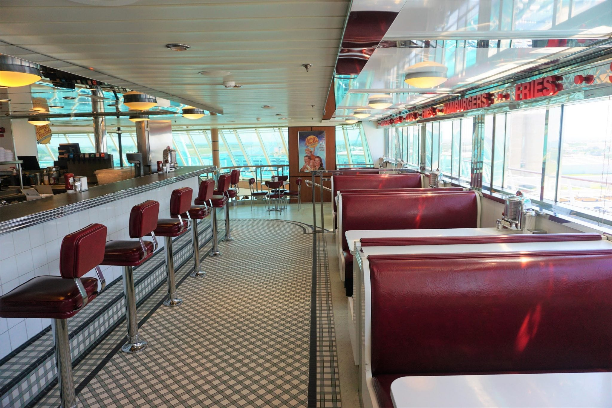 Inside Johnny Rockets on Majesty of the Seas
