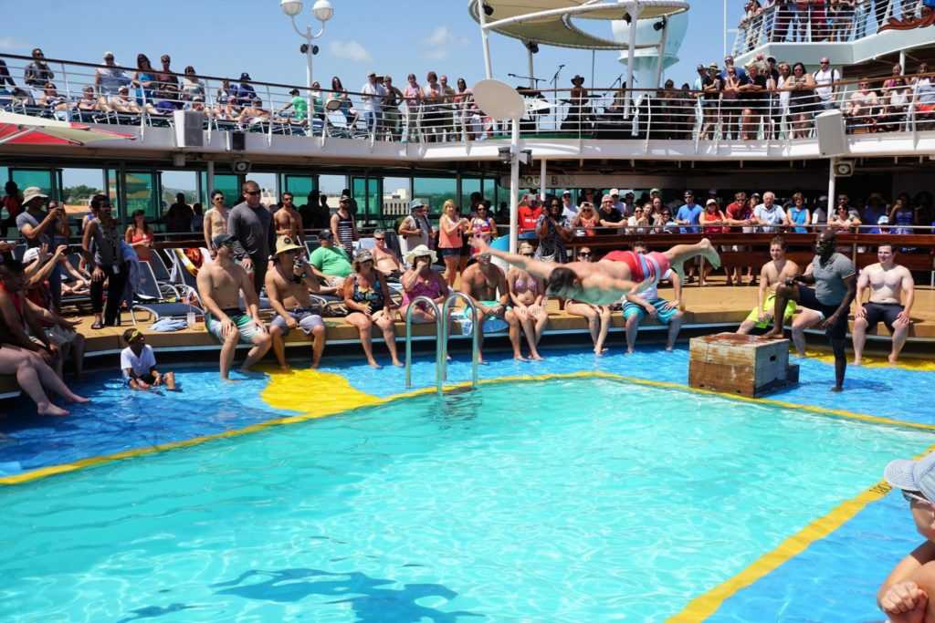 Start of the Belly Flop Contest