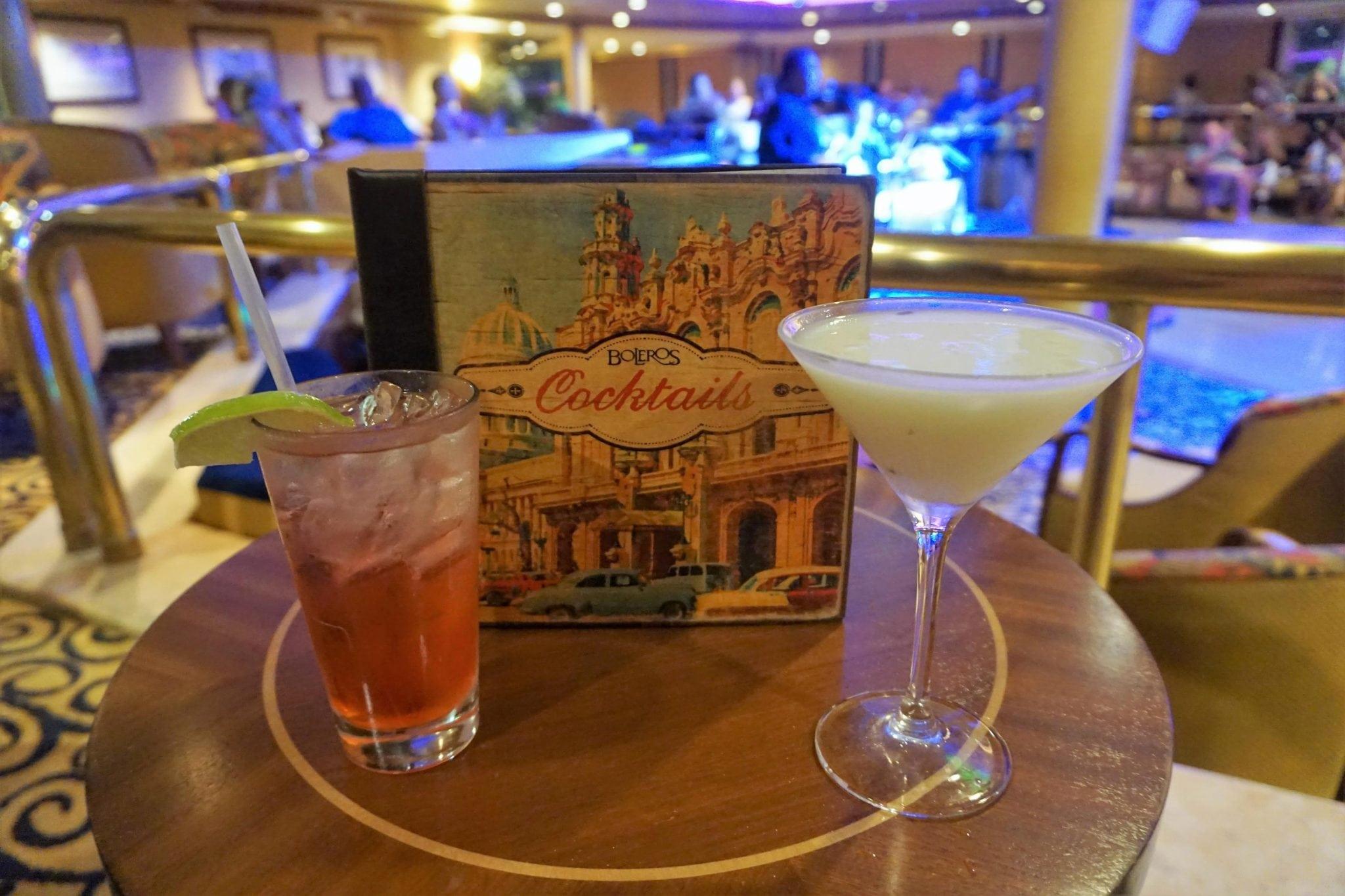 Boleros Drinks from Majesty of the Seas