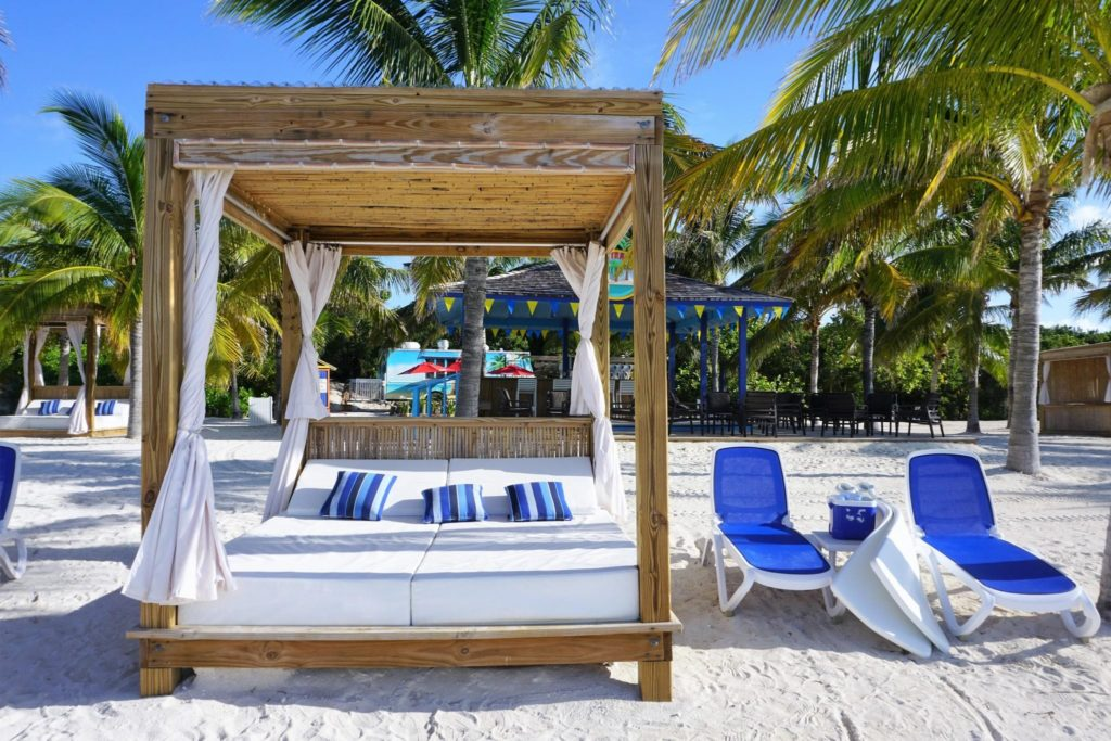 Beach Beds on Cococay Bahamas