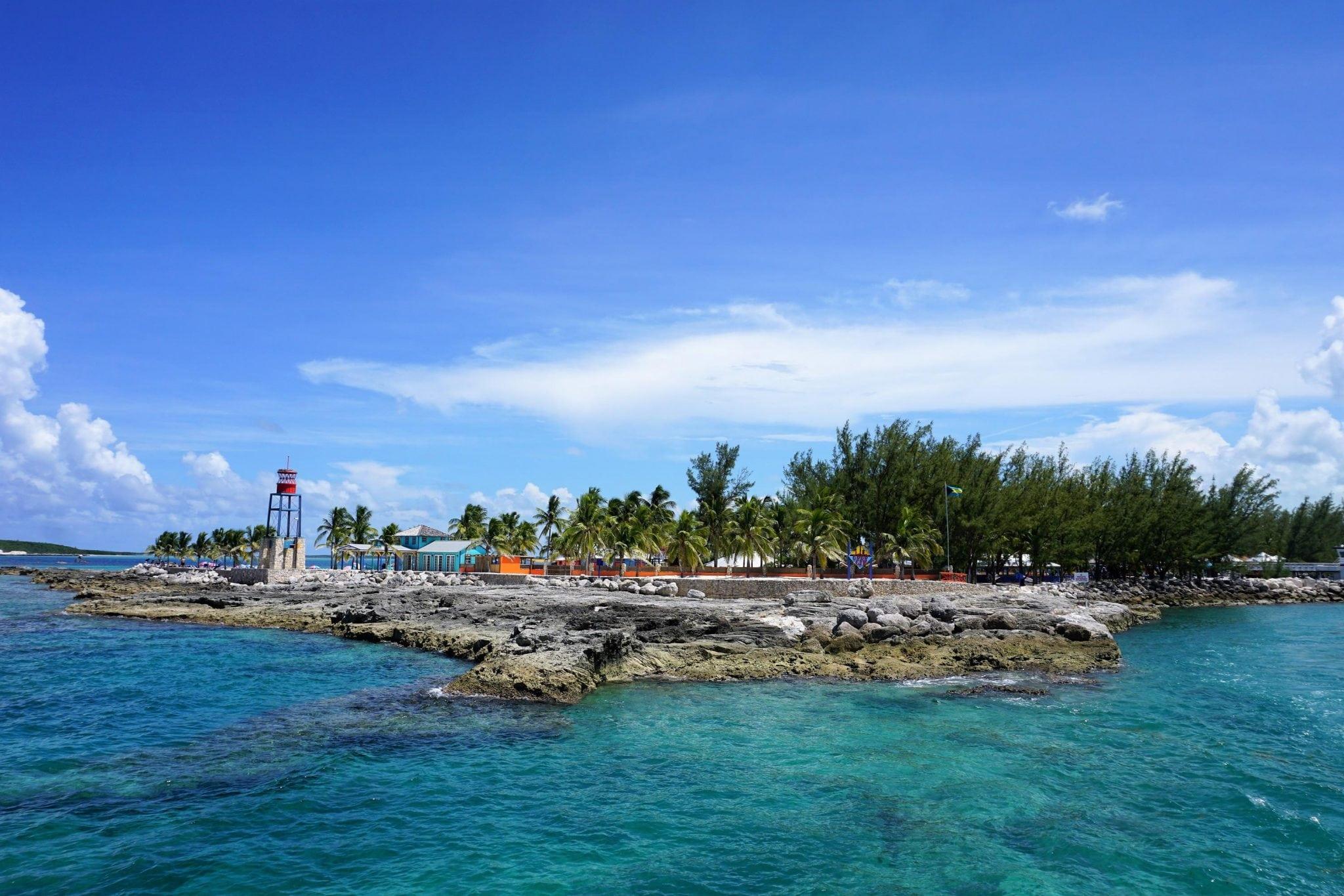 Pulling Awa from CocoCay, Bahamas