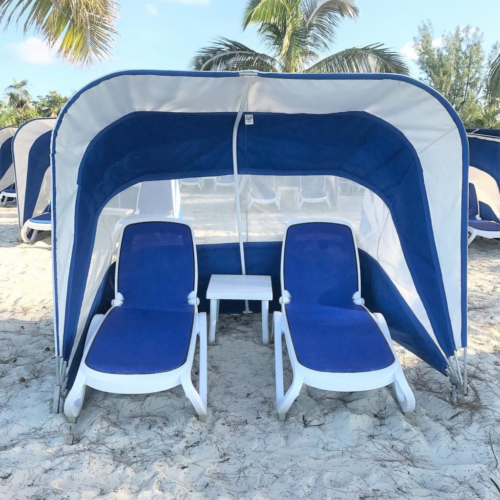 Beach Lounger on CocoCay Bahamas