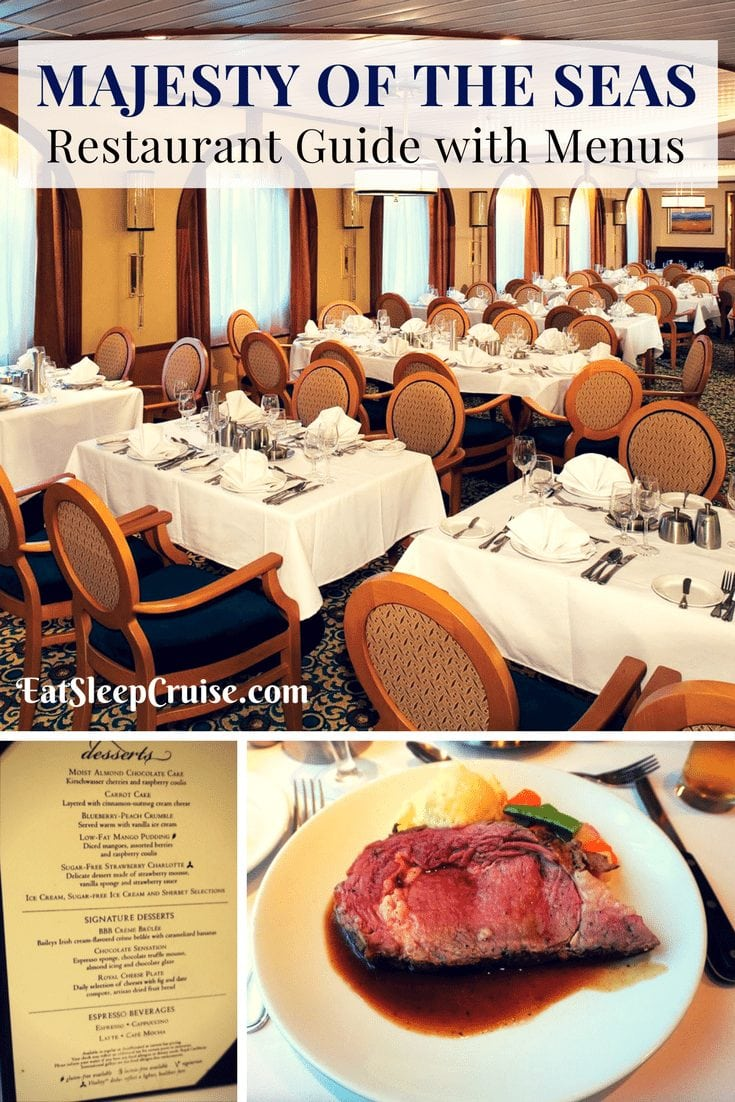 Majesty ogf the Seas Restaurant Guide