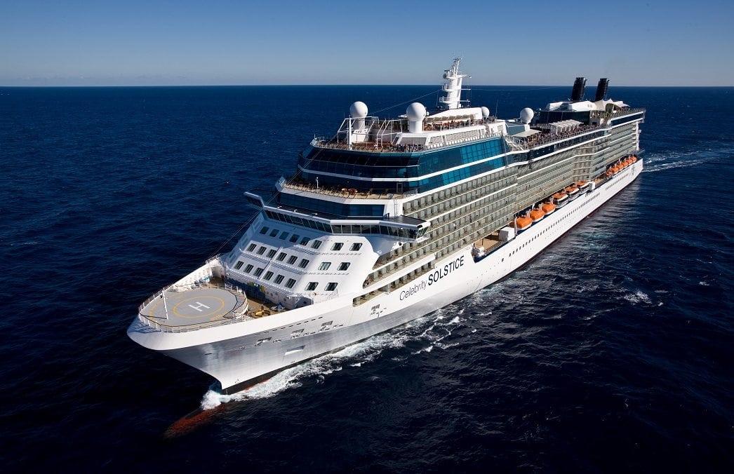 Celebrity Solstice Aerial At Sea Miami Shoreline