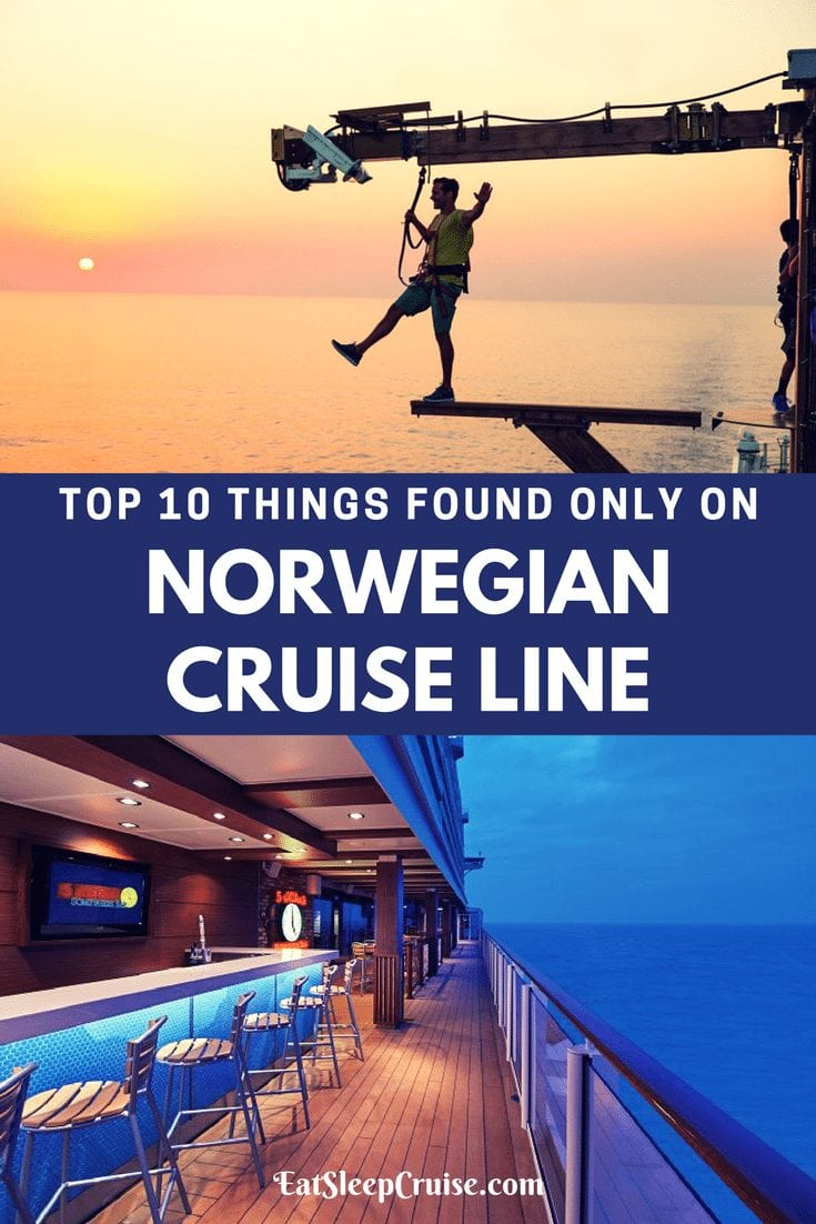 Top 10 Things Found Only on Norwegian Cruise Line