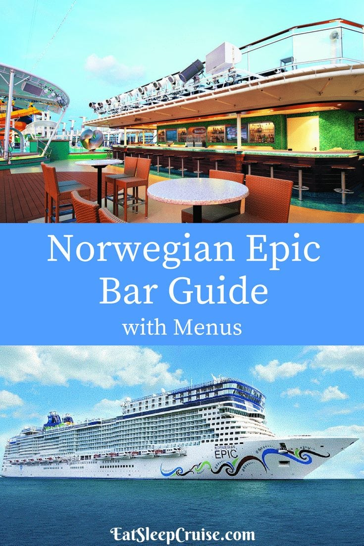 Norwegian Epic Bar Guide With Menus