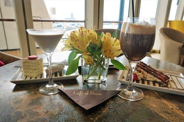 Drinks and Dessert at Cafe al Bacio on Celebrity Eclipse