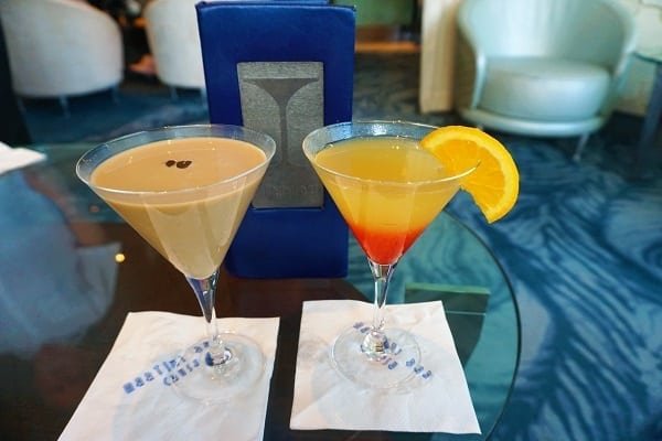 Martini Bar Drinks on Celebrity Eclipse