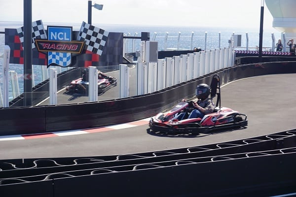 Racetrack on Norwegian Bliss