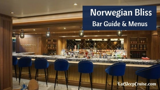 Norwegian Bliss Bar Guide