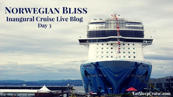 Norwegian Bliss Live Blog – Day 3