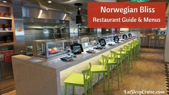 Norwegian Bliss Restaurant Menus and Guide