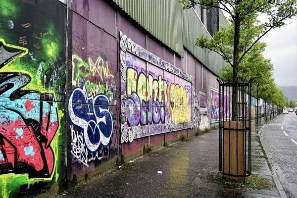 Peace Walls in Belfast, Ireland