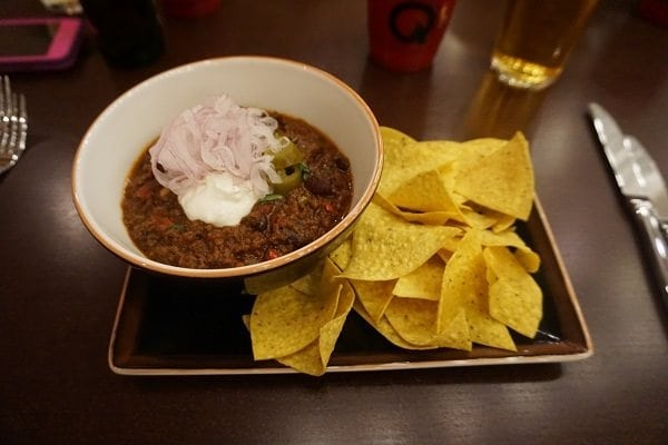 Lonestar Chili at Q Texas Smokehouse on Norwegian Bliss