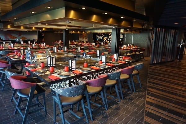 Teppanyaki on Norwegian Bliss