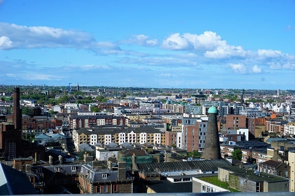 View from Gravity Bar at Guinness