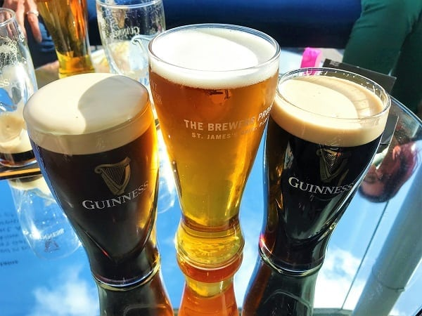 Beers at Guinness Storehouse in Dublin