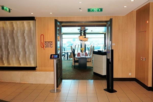 Entrance to Qsine on Celebrity Eclipse