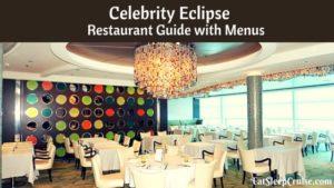 Celebrity Eclipse Restaurant Guide with menus